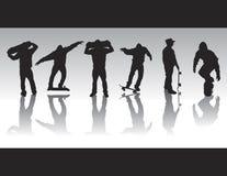 диаграмма silhouettes кек Стоковое Изображение RF