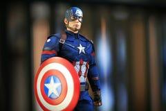 Диаграмма superheros гражданской войны капитана Америки стоковые фотографии rf