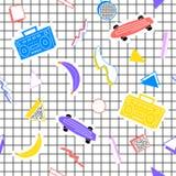 Диаграммы банана рекордера скейтборда картины Мемфиса Стоковая Фотография RF
