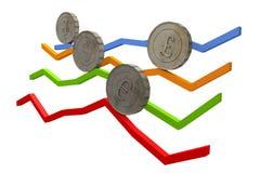 Диаграммы валюты стоковое фото