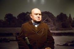 Диаграммы воска Уинстона Черчилля Стоковое Изображение