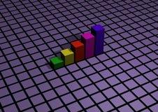 диаграммы в виде вертикальных полос Стоковая Фотография RF