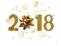Диаграммы года 2018 золотые Стоковое Изображение RF