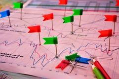 диаграммы диаграмм Стоковая Фотография