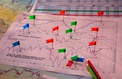 диаграммы диаграмм Стоковое фото RF