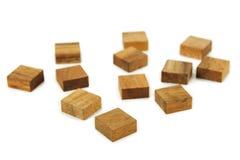 диаграммы изолированное квадратное деревянное Стоковое Фото