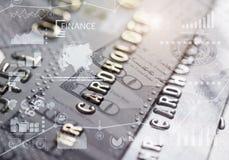 Диаграммы и кредитная карточка финансов стоковое изображение rf