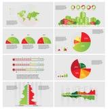 Диаграммы и элементы Infographic. Стоковые Фотографии RF
