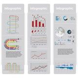 Диаграммы и элементы Infographic. Стоковая Фотография