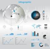 Диаграммы и элементы Infographic. Стоковые Изображения RF