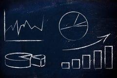 Диаграммы и stats: интеллектуальный ресурс предприятия и анализ данных Стоковая Фотография RF