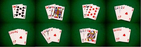 диаграммы комплект покера стоковое фото