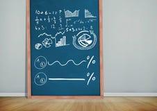 диаграммы математики на классн классном Стоковое фото RF