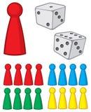 Диаграммы настольной игры с dices бесплатная иллюстрация