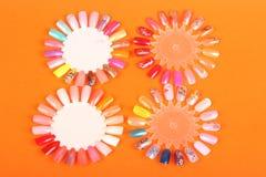 диаграммы ногти Стоковая Фотография