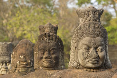 Диаграммы около виска Bayon, места наследия ЮНЕСКО, Камбоджи Стоковые Фото
