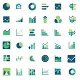 Диаграммы & отчеты о Infographic вектора финансовые Стоковые Изображения