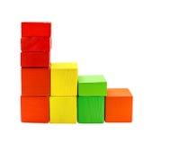Диаграммы пестротканых блоков игрушки Стоковые Изображения