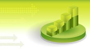 диаграммы предпосылки финансовохозяйственные Иллюстрация штока