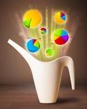 Диаграммы приходя вне от цветочного горшка Стоковое фото RF