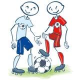 Диаграммы ручки как друзья футбола Стоковая Фотография RF
