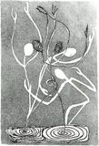 диаграммы танцы Стоковое Фото