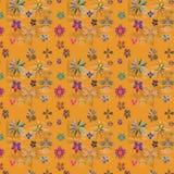 диаграммы текстура цветков безшовная Стоковое фото RF