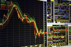 Диаграммы финансовых дочументов Стоковая Фотография RF