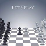 Диаграммы шахмат вектора на борту Стоковые Фото