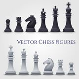 Диаграммы шахмат вектора Стоковое Фото