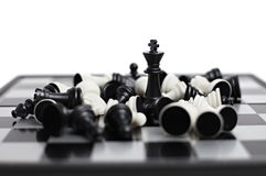 диаграммы шахмат доски Стоковое Фото