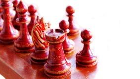 диаграммы шахмат изолировали белизну Стоковая Фотография