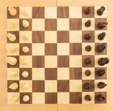 Диаграммы шахмат на борту Стоковые Изображения