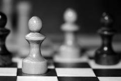 Диаграммы шахмат на доске черная белизна Стоковые Фотографии RF