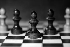 Диаграммы шахмат на доске черная белизна Стоковая Фотография RF