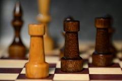 Диаграммы шахмат на доске Стоковые Изображения RF
