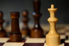Диаграммы шахмат на доске Стоковое Фото