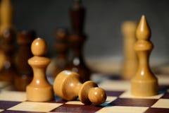 Диаграммы шахмат на доске Стоковое Изображение RF