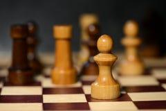 Диаграммы шахмат на доске Стоковая Фотография RF