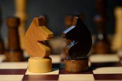 Диаграммы шахмат на доске Стоковые Фотографии RF