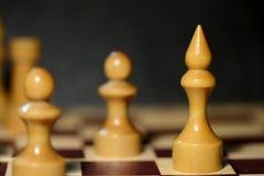Диаграммы шахмат на доске Стоковая Фотография