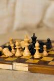 Диаграммы шахмат на шахматной доске Стоковое Фото