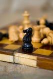 Диаграммы шахмат на шахматной доске Стоковая Фотография