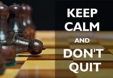 Диаграммы шахмат с мотивационным текстом Стоковое Фото