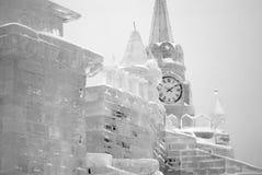Диаграммы льда в Москве Стоковые Изображения RF