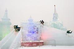 Диаграммы льда в Москве Стоковое фото RF