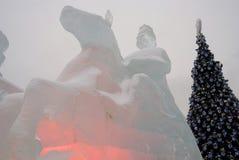 Диаграммы льда в Москве Стоковые Фото