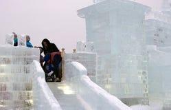 Диаграммы льда в Москве Стоковые Фотографии RF