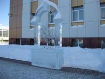 Диаграммы льда зимы Стоковое Изображение RF