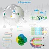 диаграммы элементов infographic Стоковые Изображения RF